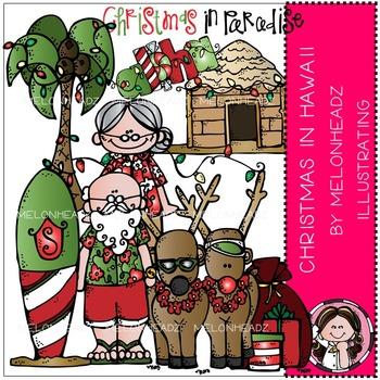 Melonheadz: Christmas in Hawaii clip art