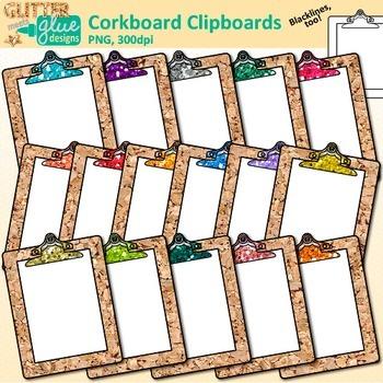 Corkboard Clipboard Clip Art {Back to School Supplies for