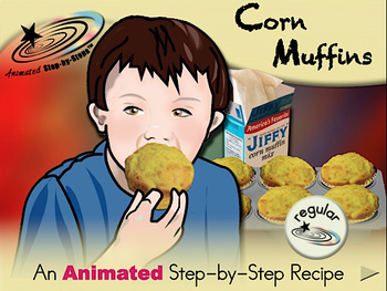 Corn Muffins - Animated Step-by-Step Recipe