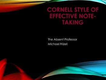 Cornell Note Taking: More than just random thoughts!