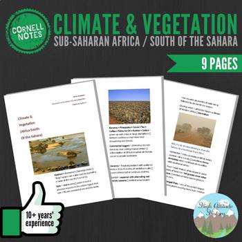 Cornell Notes (Climate & Vegetation) Sub-Saharan Africa /