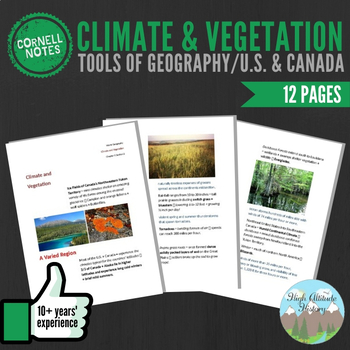 Cornell Notes (Climate & Vegetation) Tools of Geography /