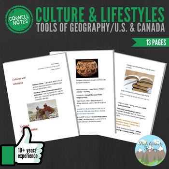 Cornell Notes (Culture & Lifestyles) Tools of Geography /