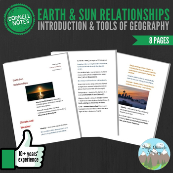 Cornell Notes (Earth & Sun Relationships) Introduction & T