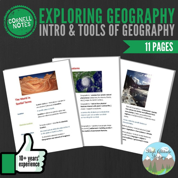 Cornell Notes (Exploring Geography) Introduction & Tools o