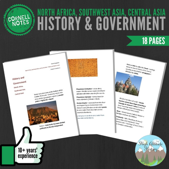 Cornell Notes (History & Government) North Africa, Southwe