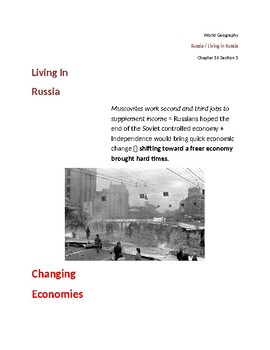 Cornell Notes (Living in Russia) Russia