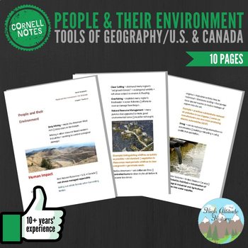 Cornell Notes (People & Their Environment) Tools of Geogra