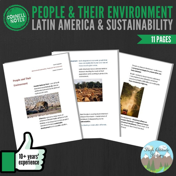 Cornell Notes (People & their Environment) Latin America a
