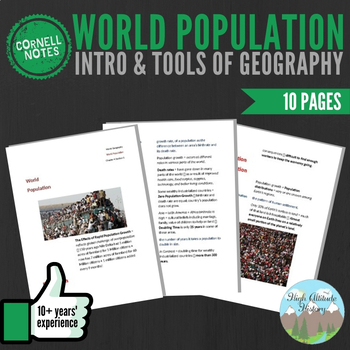 Cornell Notes (World Population) Introduction & Tools of G