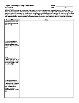 Cornell Notes and Quiz Ch 1: Reading the Story (Perrine) A