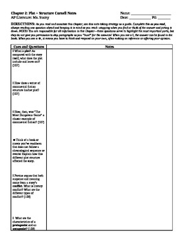 Cornell Notes and Quiz Ch 2: Plot & Structure (Perrine) AP