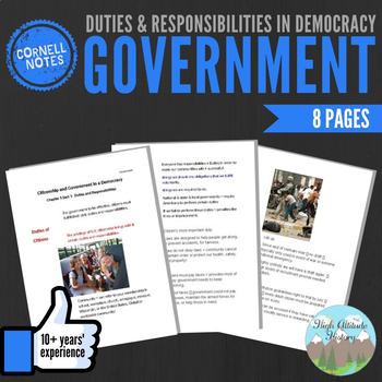 Cornell Notes (Duties and Responsibilities in Democracy)