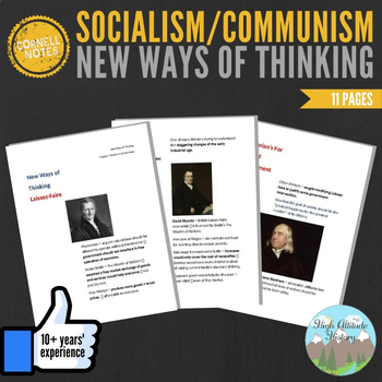 Cornell Notes (New Ways of Thinking: Socialism / Communism)