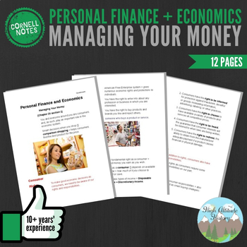 Cornell Notes (Personal Finance and Economics) Managing Yo