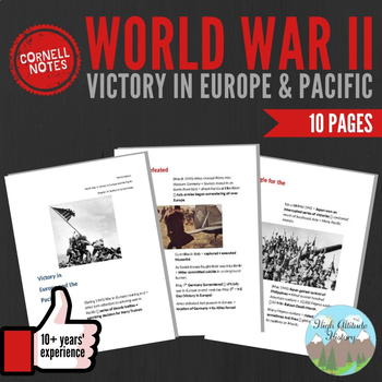 Cornell Notes: World War II (Victory in Europe & Pacific) WW2