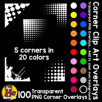 Corner Clip Art Overlays Accents BUNDLE {Clip Art for CU}