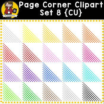Corner Clip Art Overlays Set 8 {Clip Art for CU}