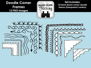 Corner Doodle Frames Bunch