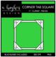 Corner Tab Square Frames {Graphics for Commercial Use}