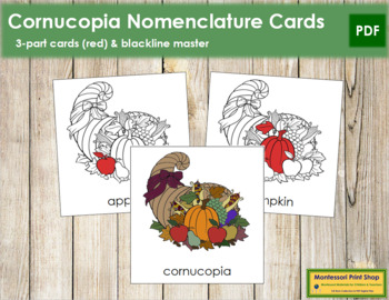 Cornucopia Nomenclature Cards (Red)