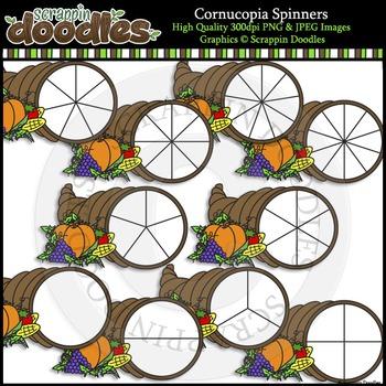 Cornucopia Spinners Clip Art & Line Art