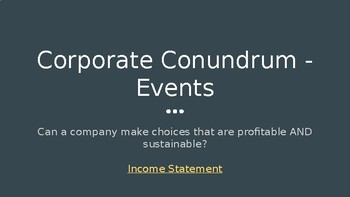 Corporate Conundrum Simulation - Building a Profitable AND