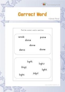 Correct Word (3rd Grade)