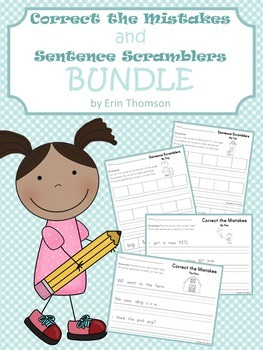 Correct the Mistakes and Sentence Scramblers Bundle