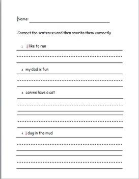 Correcting sentences