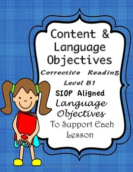 Corrective Reading Content Objectives and Language Objecti