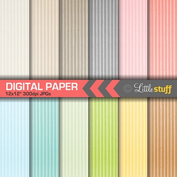 Corrugated Paper Digital Papers, Colored Cardboard Digital