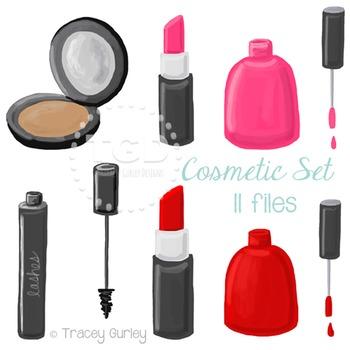 Cosmetic Makeup Clip Art, makeup set clip art Printable Tr