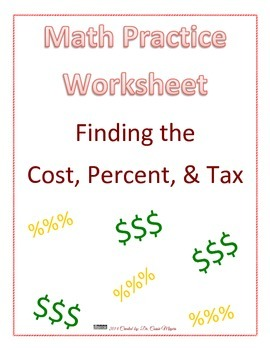 Cost, Percent, & Tax
