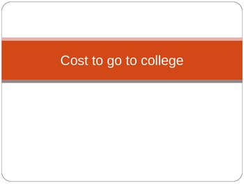 Cost to go to College Slideshow (to go with Slope lesson plan)