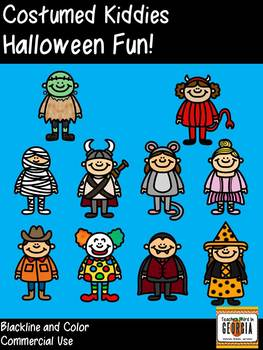 Costumed Kiddies-Halloween Fun! Clipart Collection