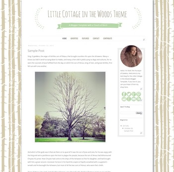 Cottage in the Woods Blogger Template Blog Theme
