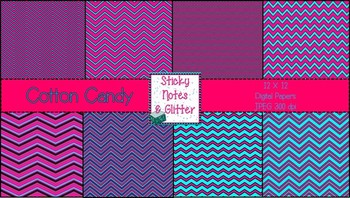 Cotton Candy (8 Chevron Style Digital Papers for Personal/