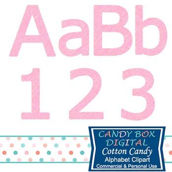 Cotton Candy Pink Block Alphabet Clip Art