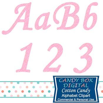 Cotton Candy Pink Cursive Alphabet Clip Art