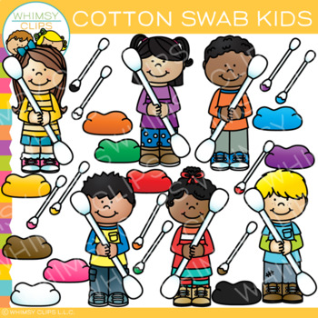 Cotton Swab Kids Clip Art