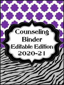 Counseling Binder Editable Edition