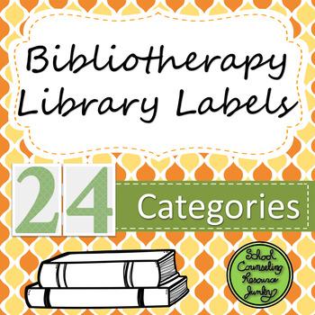 Counseling Bookshelf Labels: Orange & Yellow