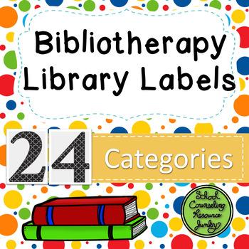 Counseling Bookshelf Labels: Multi-Color Polka Dots