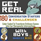Boys: Social Emotional Literacy & Self Esteem Game for Cou