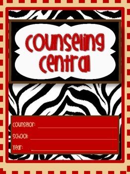 "Counseling Central Binder Set ""Wild"" {Animal & Red Set}"