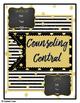"""Counseling Central Binder Set/Tabs/Spines """"Glam"""" {Black-Go"""
