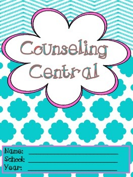 """Counseling Central Binder Set with Tabs/Spines """"Frilly"""" {T"""