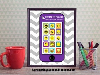 Feelings Poster for School Counseling Psychology Social Wo