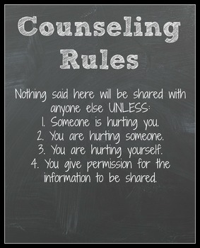 Counseling Rules - Confidentiality